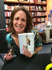 "Susan at the Book Launch of ""The Upside of Down"""